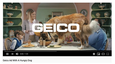 Video ad for Geico