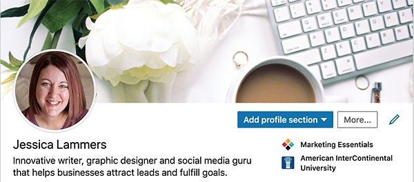 Jessica Lammers LinkedIn Cover Photo