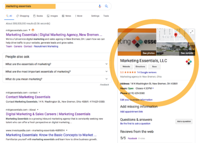 Example of Marketing Essentials Knowledge graph