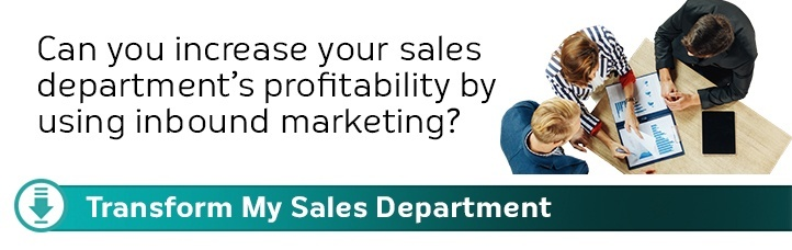Can you increase your sales department's profitibility by using inbound marketing?